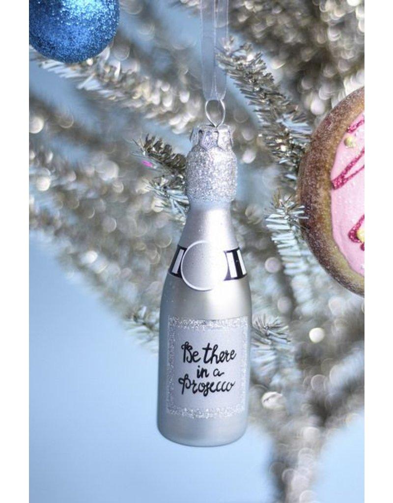 8 Oak Lane Silver Champagne Ornament