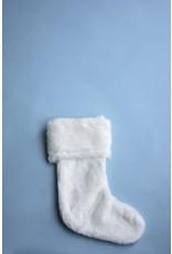 8 Oak Lane White Faux Fur Stocking