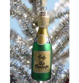 8 Oak Lane Green Champagne Ornament