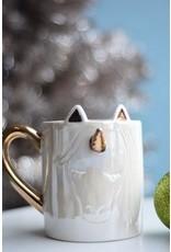 8 Oak Lane White Unicorn Coffee Mug