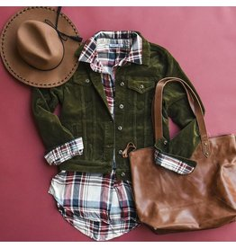 Dex Fall Plaid Button Down