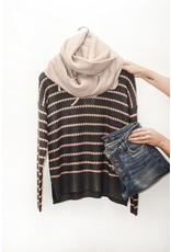 Staccato Rose & Charcoal Sweater