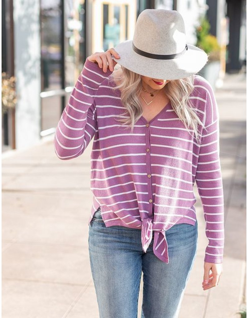 Staccato Lavender Front Tie Top