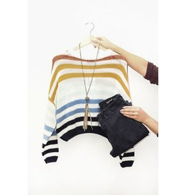 Lumiere Rainbow Stripe Sweater