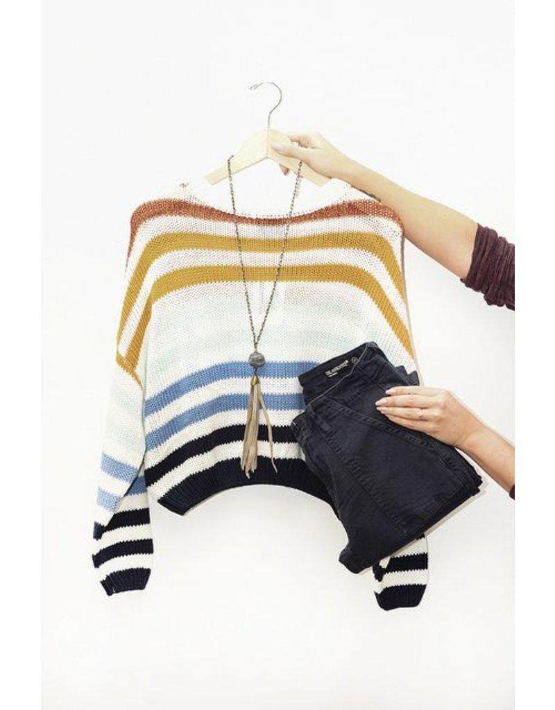 Lumiere Rainbow Stripe Sweater