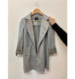 KUT Faye Long Coat Silver