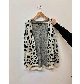 Ivory Leopard Print Cardigan