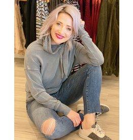 Dex Medium Grey Hooded Sweatshirt