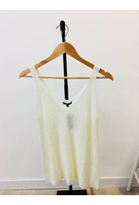 Staccato Ivory V-Neck Tank Sweater