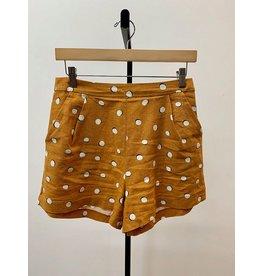 Lush Mustard Dot Print Shorts