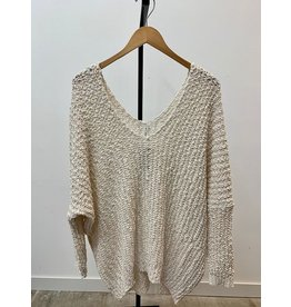 Wish List Natural Longsleeve Pullover Top