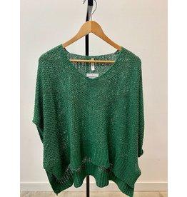 Wish List Dark Green 3/4 Sleeve Top