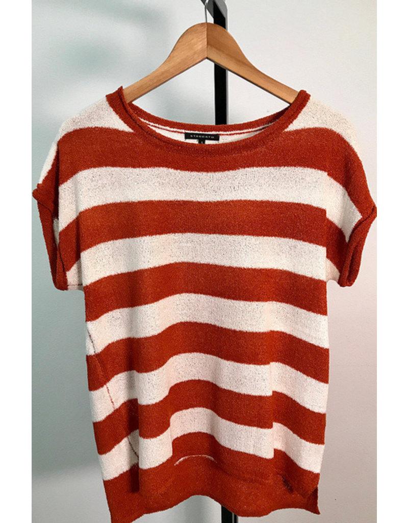 Staccato Pumpkin & Ivory Stripe Sweater