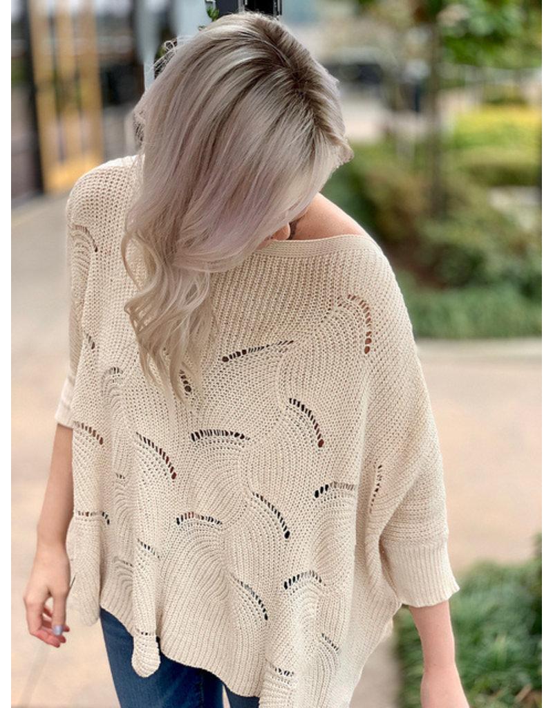 Wish List Cream Sweater Top