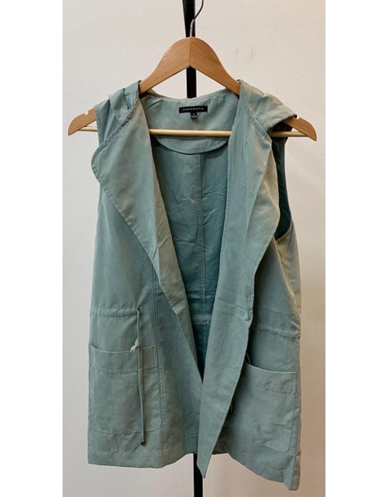 Staccato Slate Blue Angled Vest