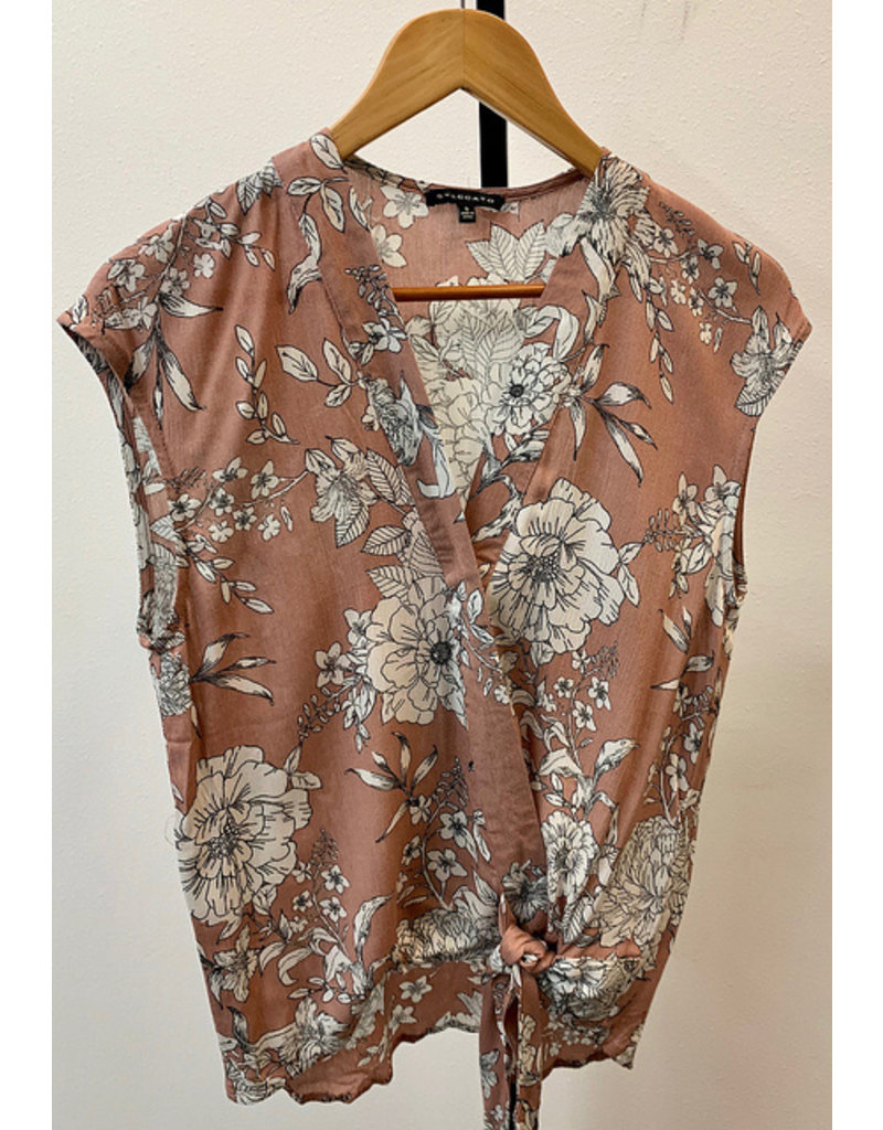 Staccato Rose Wrap Front Floral Blouse