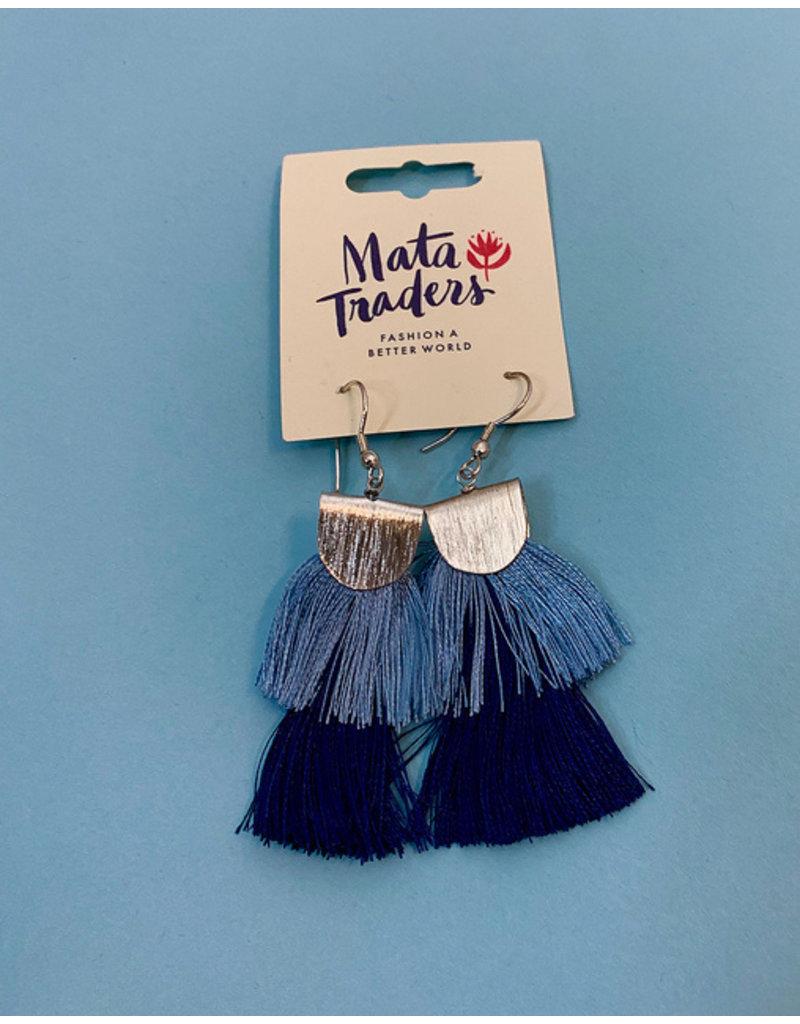 Mata Traders Blue Cozumel Tassel Earrings