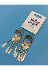 Mata Traders Gold Souk Fringe Earrings
