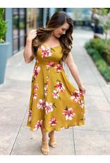 Gilli Mustard Midi Plus Dress