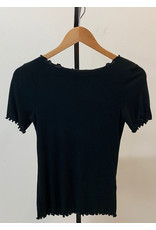 Gilli Black Cap Sleeve Top