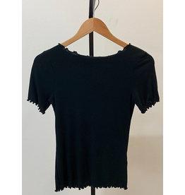 Gilli Black Cap Sleeve Top