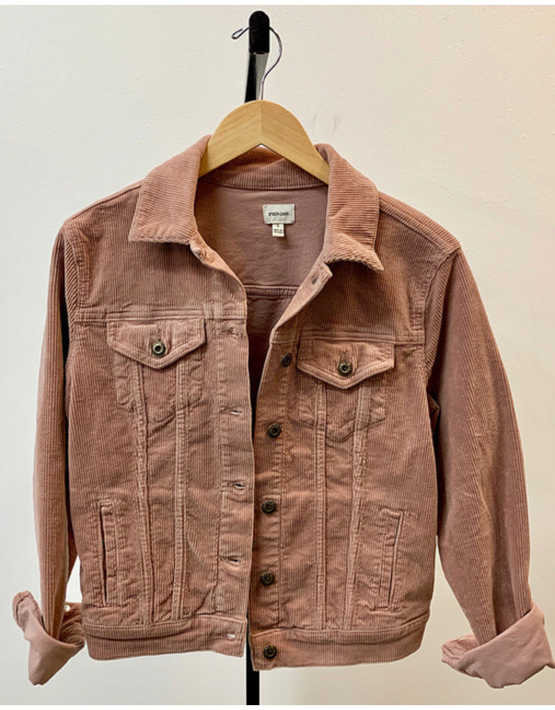 Sneak Peek Mauve Corduroy Jacket