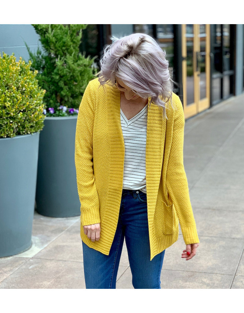 Staccato Mustard Light Weight Sweater Cardigan