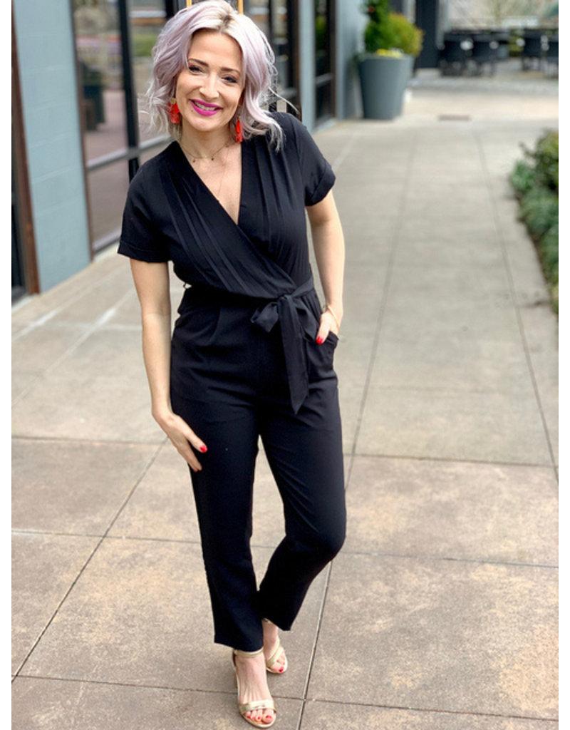 Gilli Black Wrap Jumpsuit