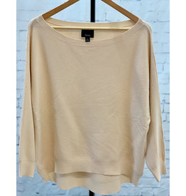 Lumiere Taupe Oversized Ribbed Knit Top