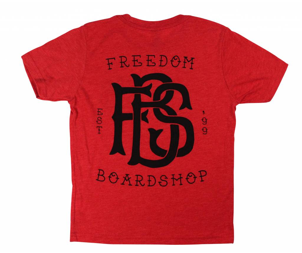 Freedom Boardshop TEE-FREEDOM KIDS MONOGRAM