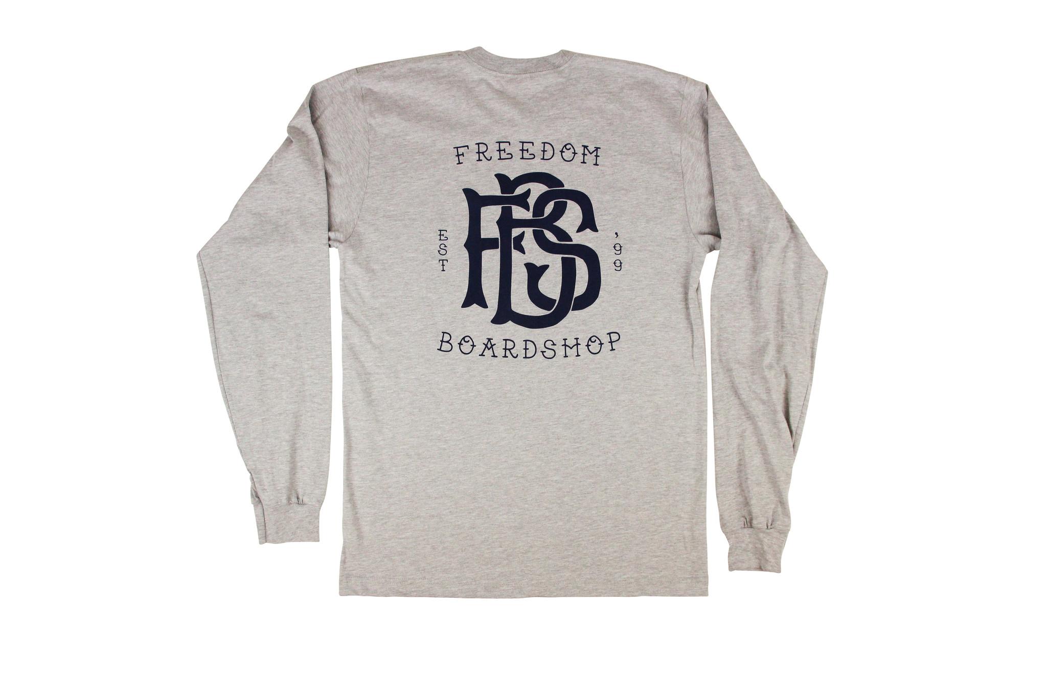 Freedom Boardshop TEE-FREEDOM MONOGRAM L/S