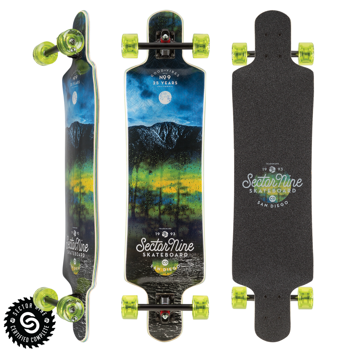 Sector 9 LONGBOARD-SECTOR 9 MIDNIGHT FAULT LINE