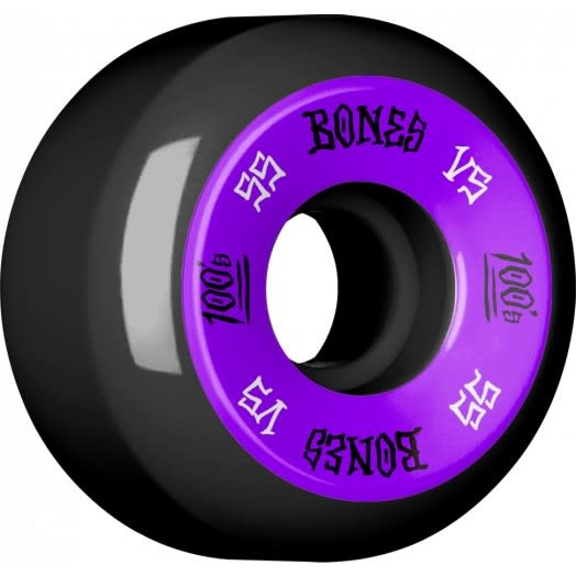 Bones WHEELS-BONES 100's V5 BLACK (55)