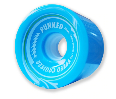 Yocaher WHEELS-FREEDOM LONGBOARD SOLID BABY BLUE (70)