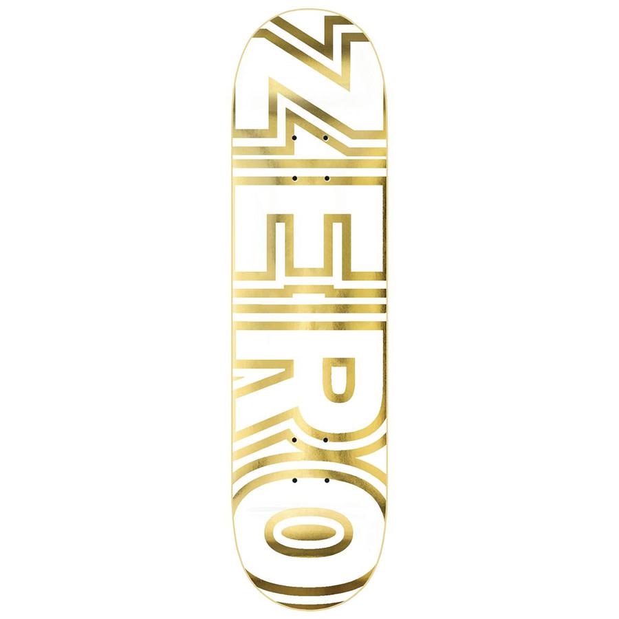 Zero DECK-ZERO BOLD WHITE/GOLD (8.25)