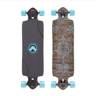 WHITE WAVE LONGBOARD-WHITE WAVE TRIDENT TURQUOISE