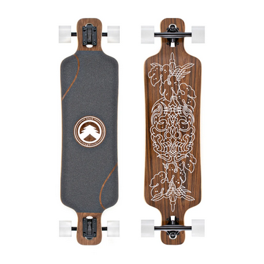 WHITE WAVE LONGBOARD-WHITE WAVE SAMURAI WHITE