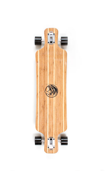 WHITE WAVE LONGBOARD-WHITE WAVE WARRIOR BLACK
