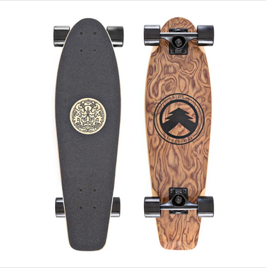 WHITE WAVE LONGBOARD-WHITE WAVE DAGGER BLACK