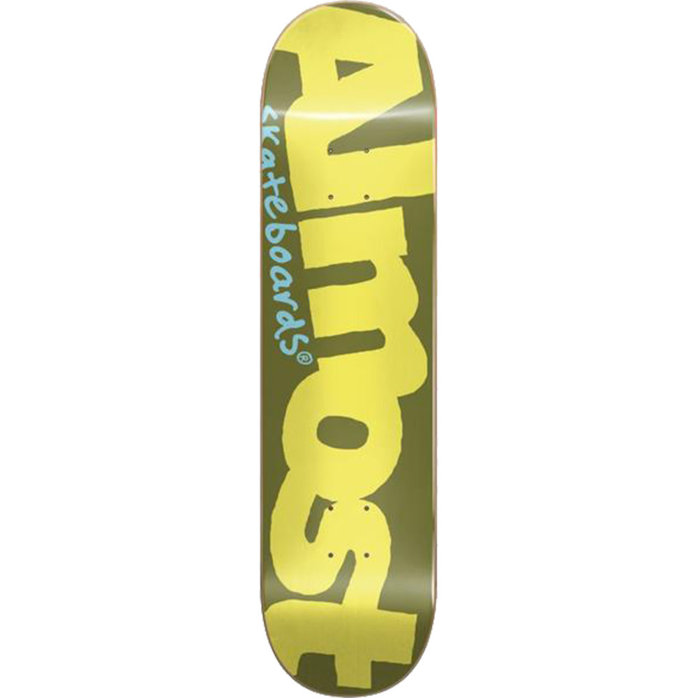 Almost DECK-ALMOST COLOR LOGO OLIVE/YELLOW (8.1)