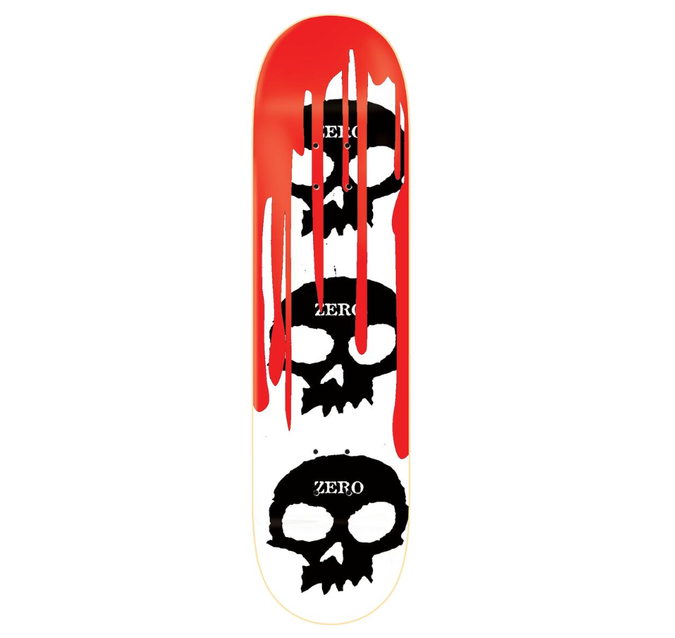 Zero DECK-ZERO 3 SKULL BLOOD WHITE (7.8)