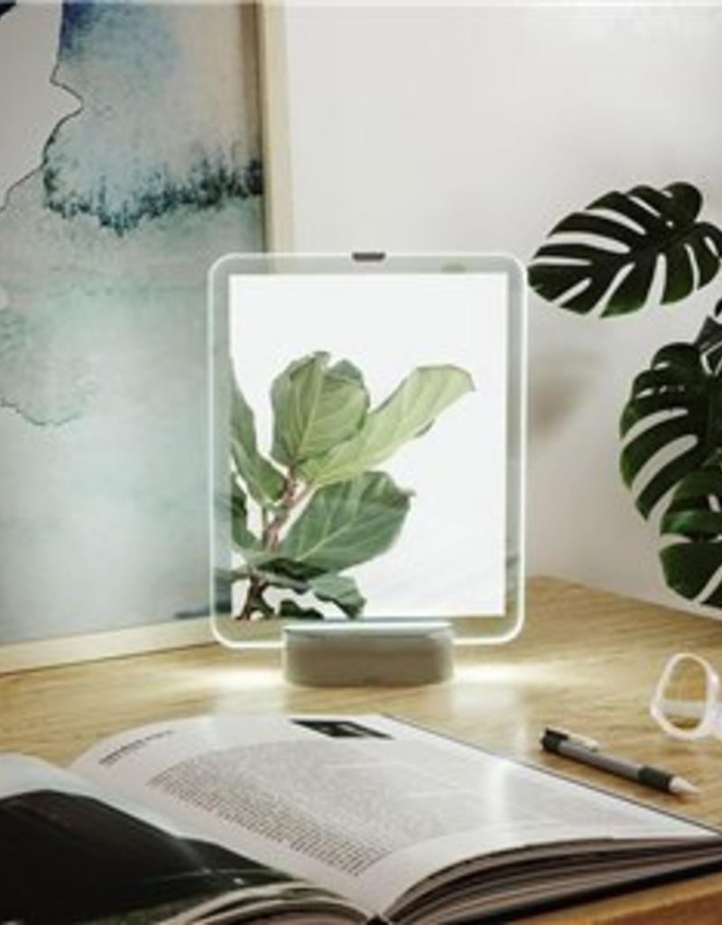 GLOWING FLOATING PICTURE FRAME- Nickel, 5x7