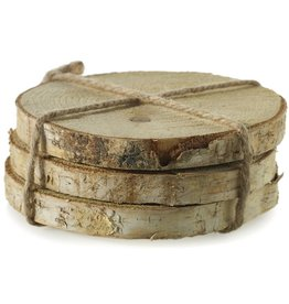 """Birch Coasters 6"""" 3 slices/pac"""