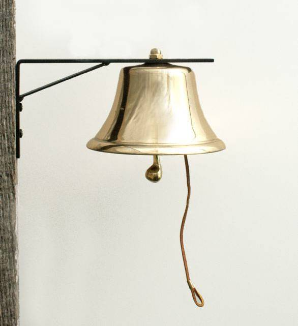 BRASS PATIO BELL, 4""