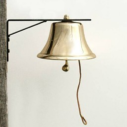 BRASS PATIO BELL, 6""