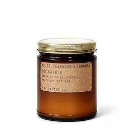 P.F.Candle Teakwood and Tobacco Soy Candle 7.2oz