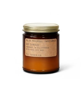 P.F.Candle Patchouli Sweetgrass Soy Candle 7.2oz