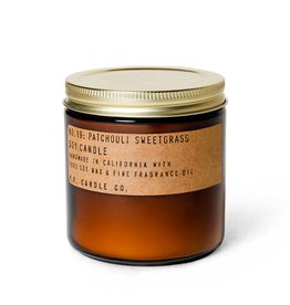 P.F.Candle Patchouli Sweetgrass Soy Candle 3.5oz