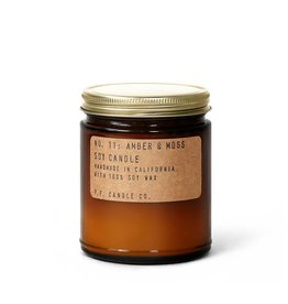 P.F.Candle Large Amber & Moss Candle 12.5 oz