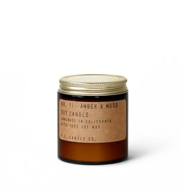 P.F.Candle Amber & Moss Soy Candle 3.5 oz